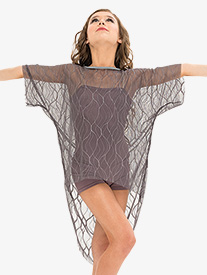 Womens Mesh Short Sleeve Performance Tunic Top