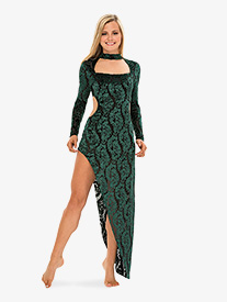 Womens Jealousy Velvet Baroque Performance Dress