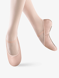 Girls Belle Leather Full Sole Ballet Slippers