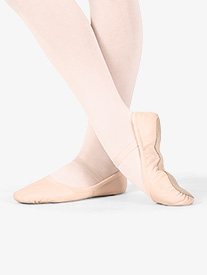 Girls Giselle Leather Full Sole Ballet Shoes