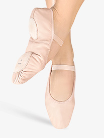 Adult Dansoft Leather Split-Sole Ballet Slippers