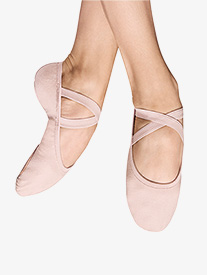 Girls Performa Stretch Canvas Ballet Shoes