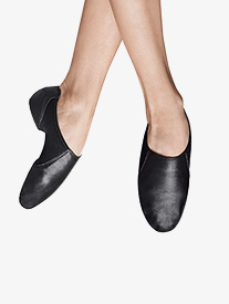 Girls Spark Split Sole Leather Jazz Shoes