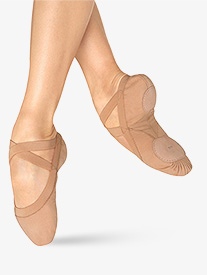 Adult Pro Elastic Canvas Split-Sole Ballet Shoes