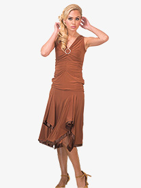 Womens Handkerchief Ballroom Skirt
