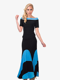 Womens Long Dual Toned Ballroom Skirt
