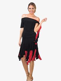 Womens Reversible Asymmetrical Ballroom Skirt