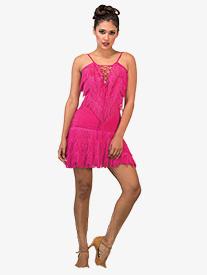 Womens Short Fringe Ballroom Skirt