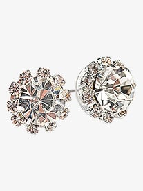 12mm Starburst Rhinestone Earrings
