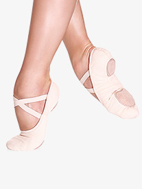 Girls Bliss Stretch Canvas Split-Sole Ballet Shoes