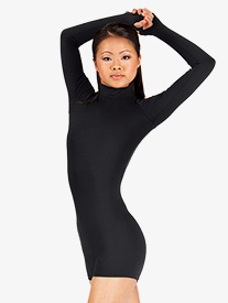 Adult Long Sleeve Mock Neck Shorty Unitard