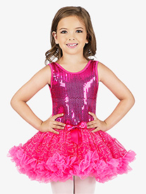 Child Sequin Tutu Costume Dress