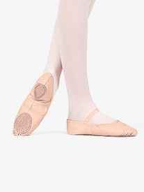 Child Leather Split-Sole Ballet Shoes