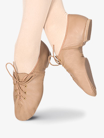 Girls Lace Up Jazz Shoes