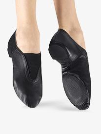 Girls Gore Top Jazz Shoes