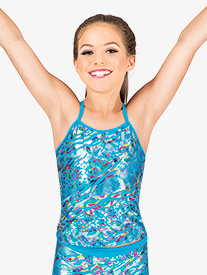 Girls Metallic Leopard Camisole Top