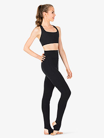 Womens High Waist Stirrup Dance Leggings