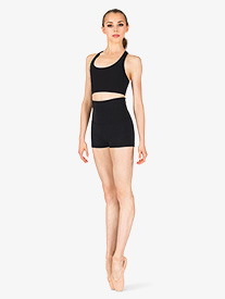 Womens Team Basics Foldover Shorts