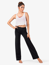 Girls Nylon Boot Cut Pants