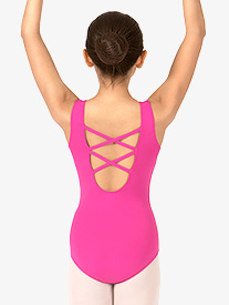 Girls Lattice Back Tank Dance Leotard