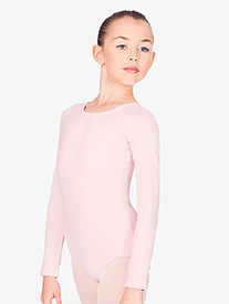 Child Long Sleeve Cotton Dance Leotard