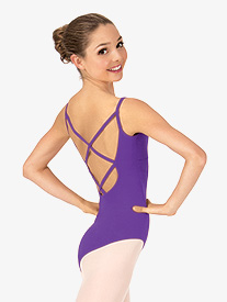 Adult Camisole Crisscross Back Dance Leotard