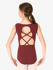 Child Keyhole Back Tank Dance Leotard