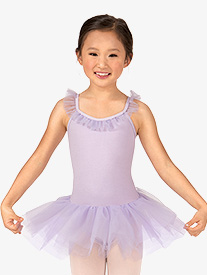 Girls Ruffle Neck Camisole Tutu Ballet Dress
