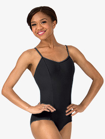 Womens Pinch Front Camisole Leotard