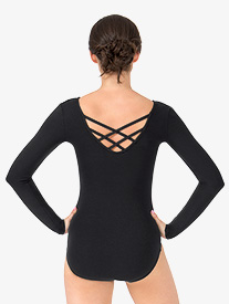 Womens Trestle Back Long Sleeve Leotard