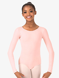 Girls Trestle Back Long Sleeve Leotard