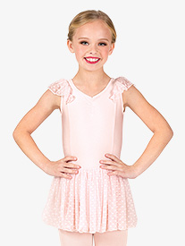 Girls Heart Flock Pinch V-Front Flutter Sleeve Ballet Dress