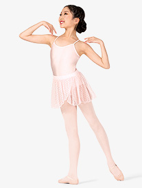 Girls Heart Flock Mesh Pull-On Ballet Skirt