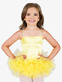 Child Satin Basic Camisole Leotard