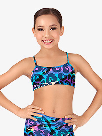 Child Rainbow Leopard Camisole Bra Top