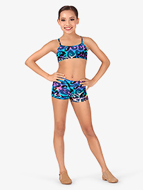 Child Rainbow Leopard Dance Shorts