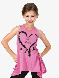 Girls Love Dance A-Line Tank Top