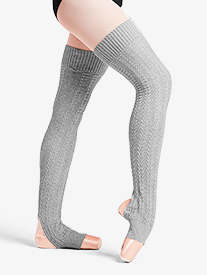 Womens Cable Knit Stirrup Legwarmers