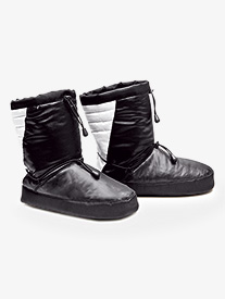 Adult Black/White Warmup Bootie