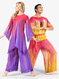 Adult Unisex Hand Painted Worship Palazzo Pants