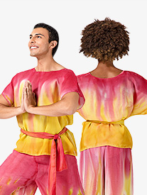 Adult Unisex Hand Painted Worship Short Sleeve Tunic