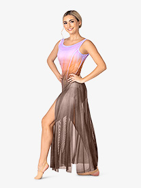 Adult Hand Painted Long Tank Mesh Lyrical Dress