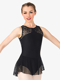 Womens Rose Mesh Tank Ballet Dress
