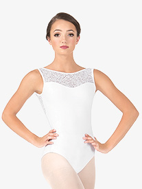 Womens Rose Mesh Laura Tank Leotard