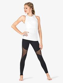 Womens High Waist Stirrup Workout Leggings