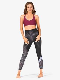 Womens Printed High Waist Workout Leggings