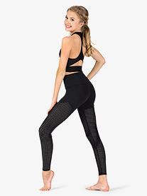 Womens Mesh High Waist Workout Leggings
