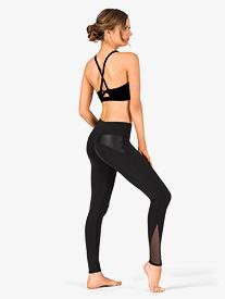 Womens Mesh Insert Workout Leggings