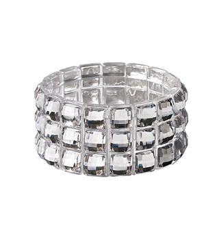 Acrylic & Rhinestone Stretch Bracelet - Style No 234SB310003