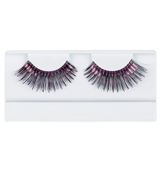 Black & Hot Pink Stage Eyelashes - Style No 2483F